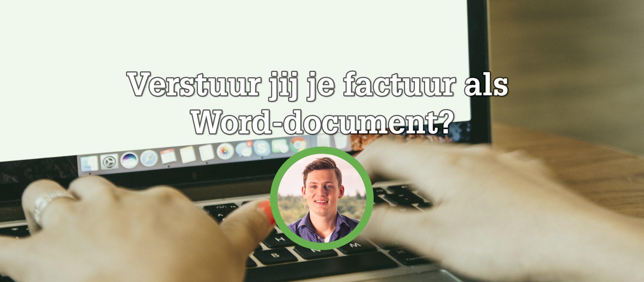 factuur word document EZ Boekhouding | Blog | Factuur versturen als Word document